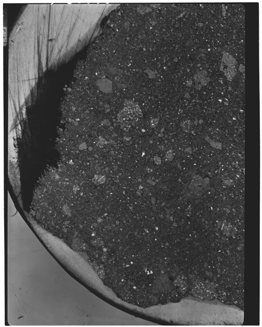 Thin Section photograph of Apollo 11 sample(s) 10046,0