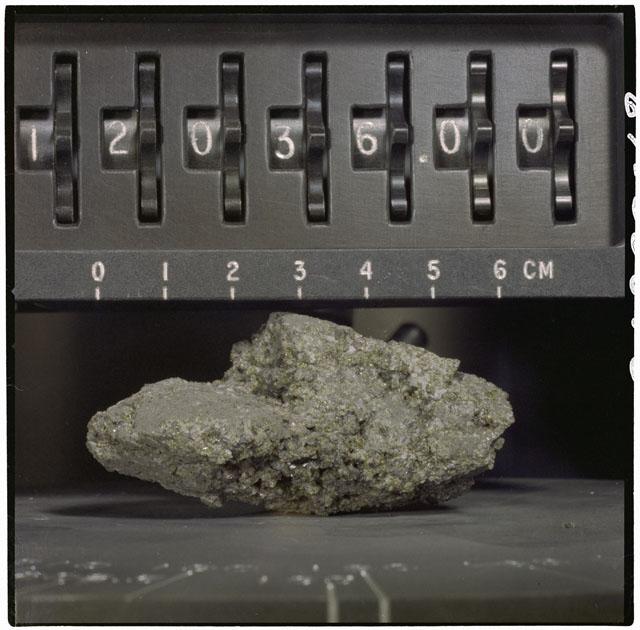Color Processing photograph of Apollo 12 Sample(s) 12036,0.