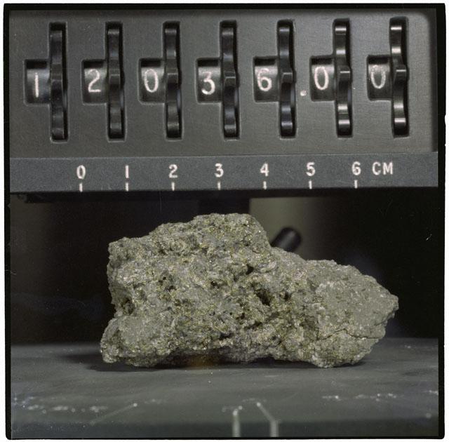 Color Processing photograph of Apollo 12 Sample(s) 12036.