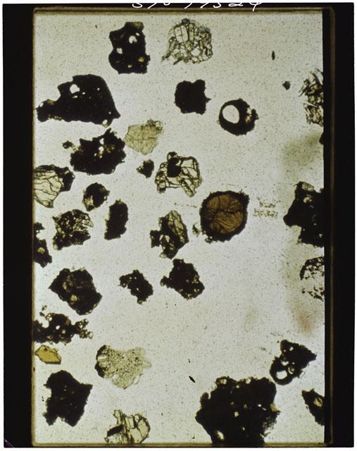 Thin Section photograph of Apollo 11 sample(s) 10085,91
