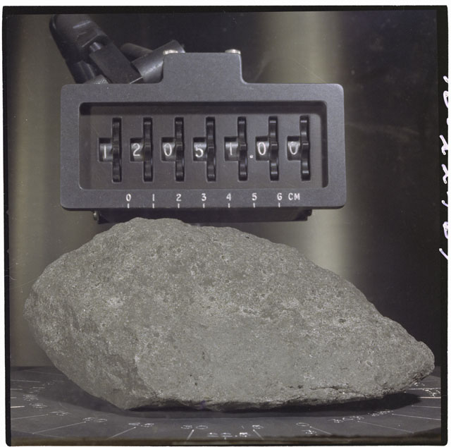 Color Processing photograph of Apollo 12 Sample(s) 12051,0.