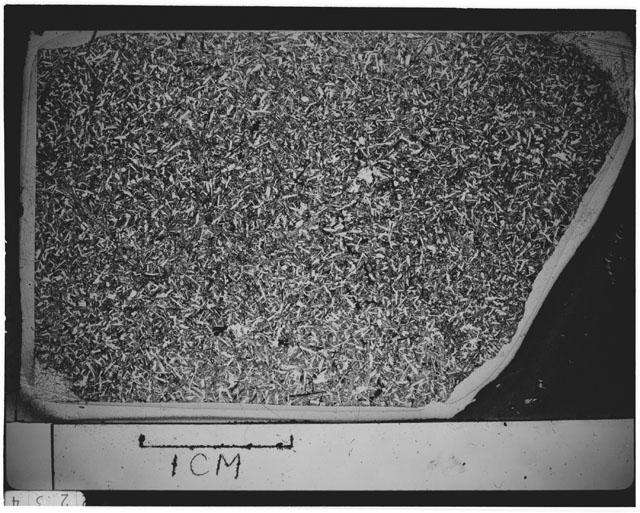 Black and white Thin Section photograph of Apollo 12 Sample(s) 12051,54.