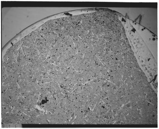 Black and white Thin Section photograph of Apollo 12 Sample(s) 12051,61.