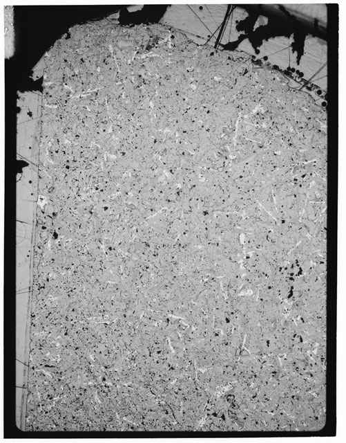 Black and white Thin Section photograph of Apollo 12 Sample(s) 12051,60.