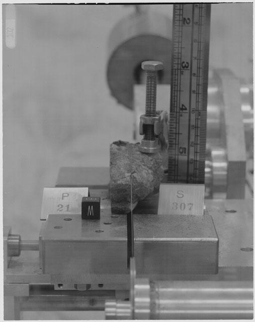 Black and White Processing Photo of Apollo 14 Sample 14307,21