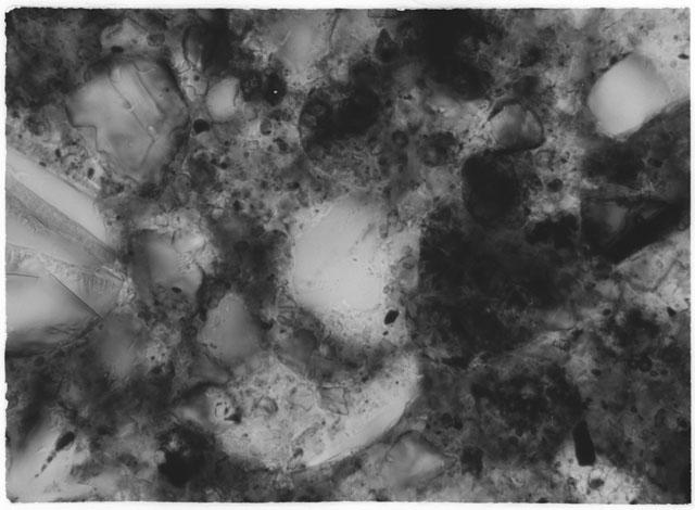 Black and White Thin Section Photo of Apollo 14 Sample 14049