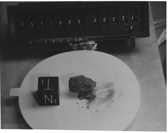 Inventory Photograph of Apollo 15 Sample(s) 15118
