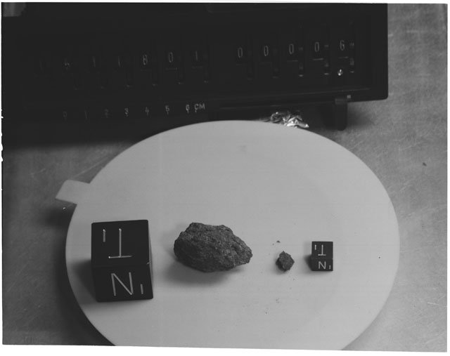 Inventory Photograph of Apollo 15 Sample(s) 15118,01