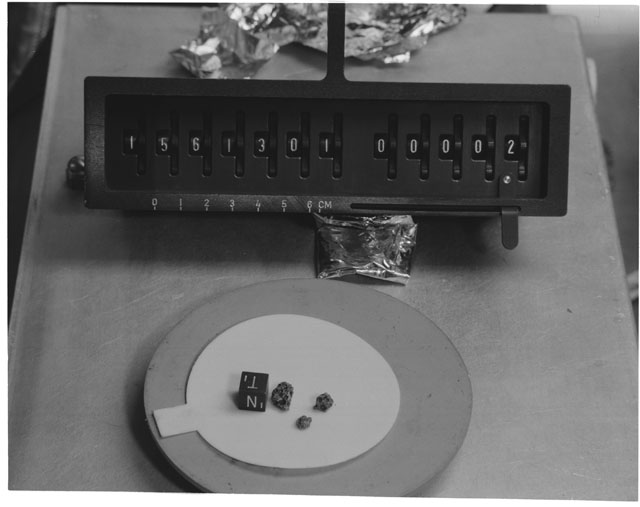 Inventory Photograph of Apollo 15 Sample(s) 15613,01