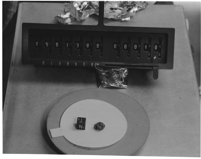 Inventory Photograph of Apollo 15 Sample(s) 15613