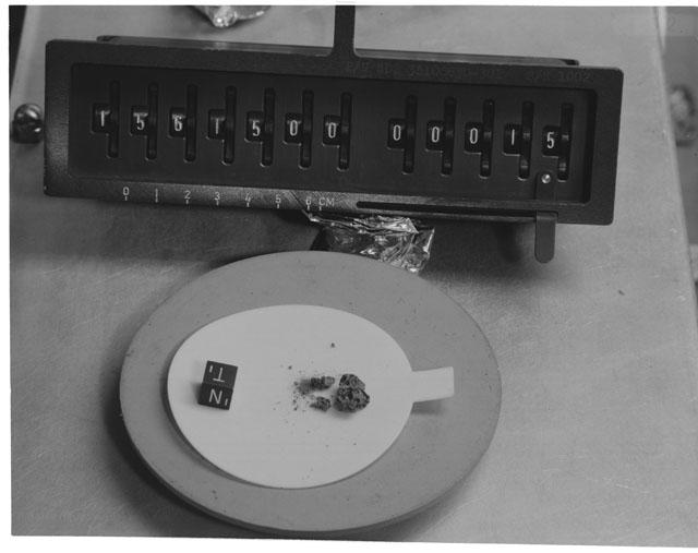 Inventory Photograph of Apollo 15 Sample(s) 15615