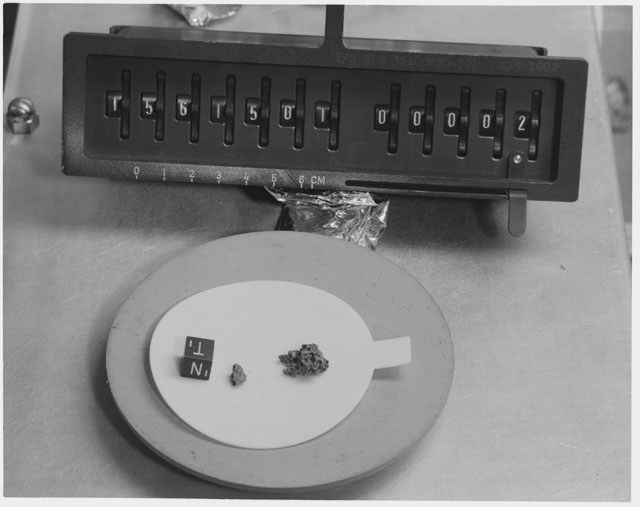 Inventory Photograph of Apollo 15 Sample(s) 15615,01