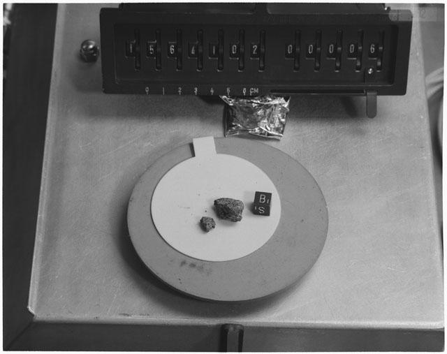 Inventory Photograph of Apollo 15 Sample(s) 15641,02