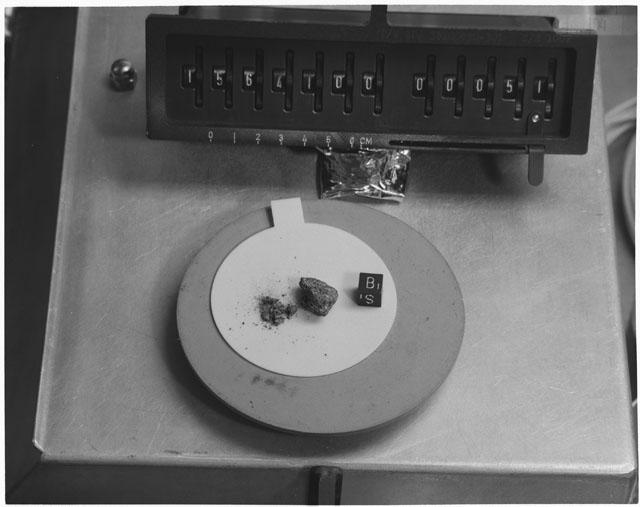 Inventory Photograph of Apollo 15 Sample(s) 15641