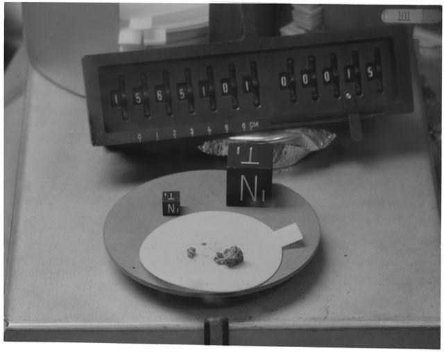 Inventory Photograph of Apollo 15 Sample(s) 15651,01