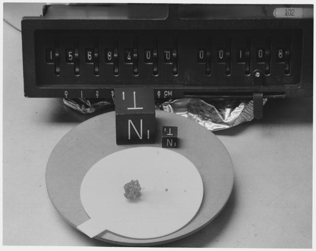 Inventory Photograph of Apollo 15 Sample(s) 15684