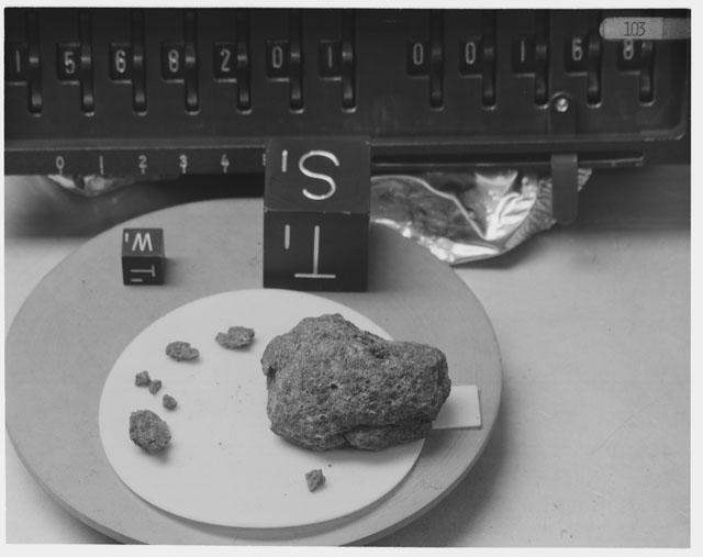 Inventory Photograph of Apollo 15 Sample(s) 15682,02