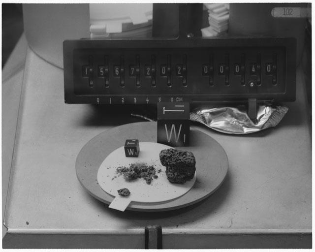 Inventory Photograph of Apollo 15 Sample(s) 15672,02