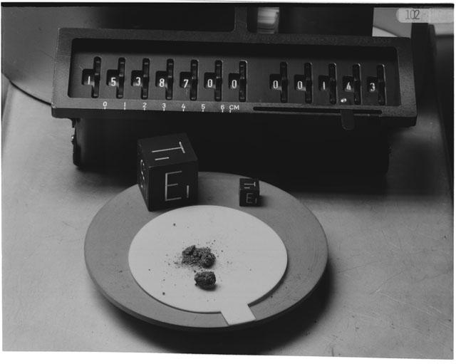 Inventory Photograph of Apollo 15 Sample(s) 15387
