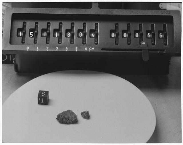 Inventory Photograph of Apollo 15 Sample(s) 15118,04