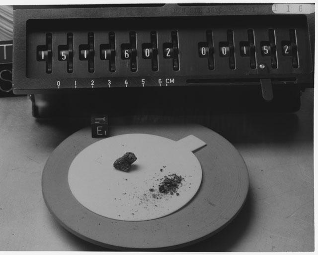 Inventory Photograph of Apollo 15 Sample(s) 15116,02