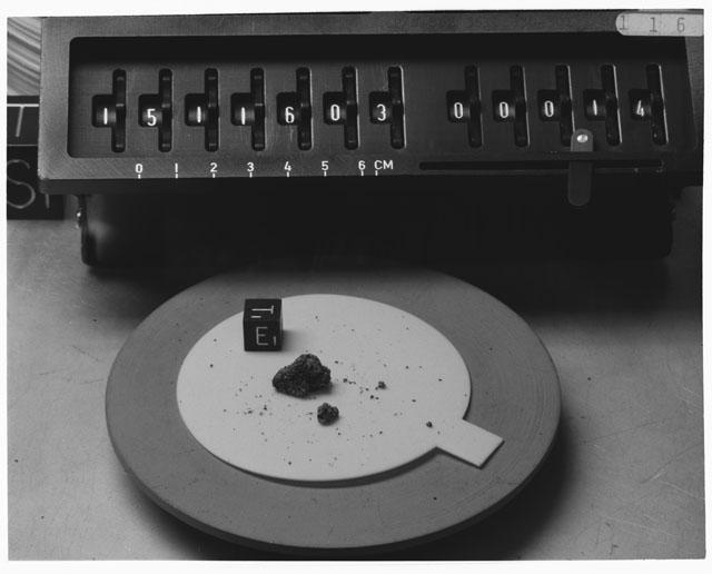 Inventory Photograph of Apollo 15 Sample(s) 15116,03