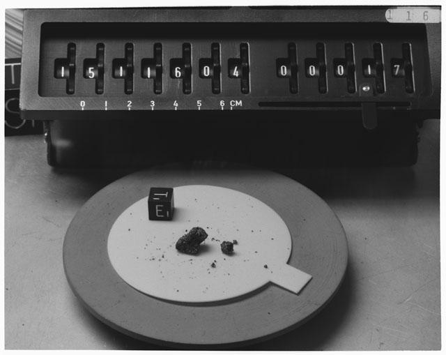 Inventory Photograph of Apollo 15 Sample(s) 15116,04