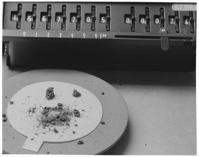 Inventory Photograph of Apollo 15 Sample(s) 15672,5