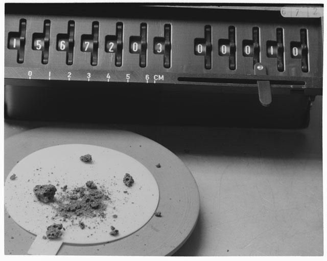 Inventory Photograph of Apollo 15 Sample(s) 15672,3