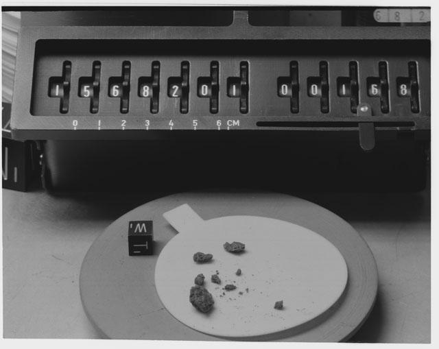 Inventory Photograph of Apollo 15 Sample(s) 15682,01