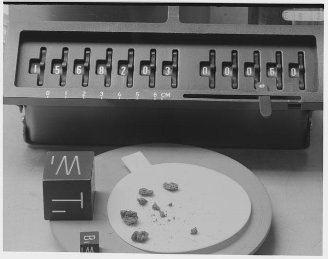 Inventory Photograph of Apollo 15 Sample(s) 15682,03