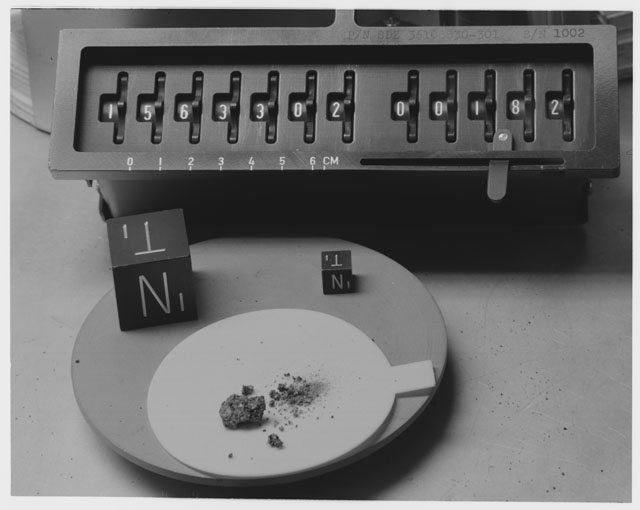 Inventory Photograph of Apollo 15 Sample(s) 15633,2