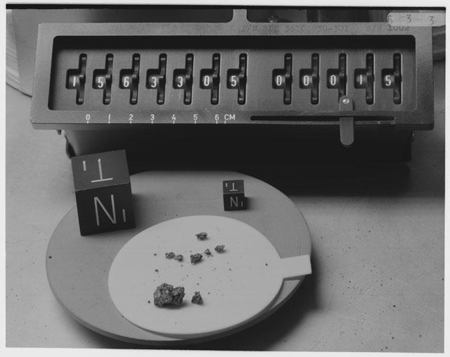 Inventory Photograph of Apollo 15 Sample(s) 15633,5