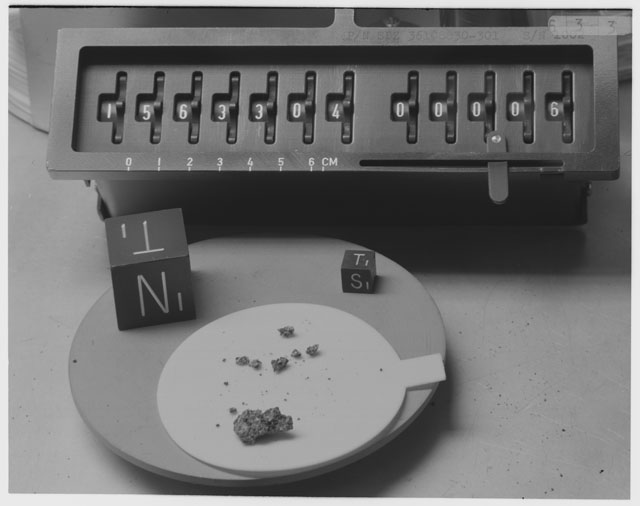 Inventory Photograph of Apollo 15 Sample(s) 15633,4