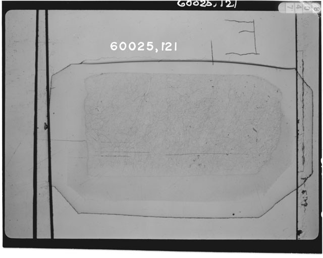 Thin Section Photo of Apollo 16 Sample 60025,121.