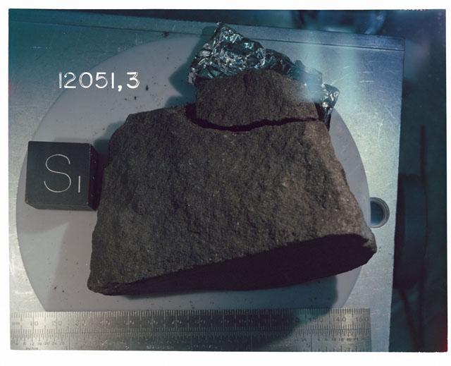 Processing photograph of Apollo 12 sample(s) 12051,3.